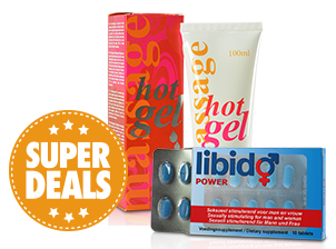 Libidopower + Hot massage gel